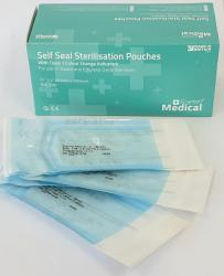 Autoclave Sterilisation Pouches - 60mm x 100mm (Box of 200)