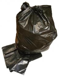 "Black Medium Duty Refuse Sacks - 18"" x 29"" x 39"" (120g) (Box of 200)"