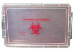 InstruBox Red Contaminated Instruments