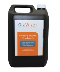OraWize+ Biocidal Pre-treatment Mouthwash (Stabilised Hypochlorous Acid) - 5ltr