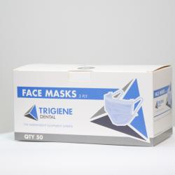 Trigiene Type II Certified 3ply Ear-Loop Face Mask (Box of 50)