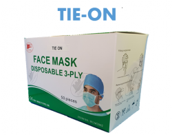 Type IIR Surgical Face Mask  3ply (Box of 50) - Fluid Resistant - Tie On