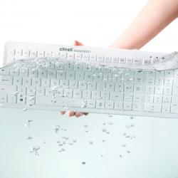 Clinell Easyclean Washable Silicone Keyboard (White)