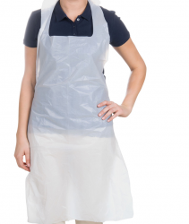 White Polythene Apron (Box of 1000)